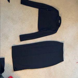 Two piece slinky midi skirt set nwot